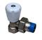Robinet de radiateur manuel laiton nickelé droit diam.15x21mm sous coque de 1 pièce - Gedimat.fr
