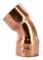 Coude cuivre à souder femelle-femelle petit rayon 41CU angle 45° diam.18mm sous coque de 2 pièces - Gedimat.fr