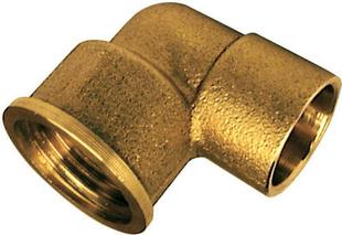 Coude laiton fer/cuivre 90GCU femelle diam.15x21mm à souder diam.16mm - Gedimat.fr