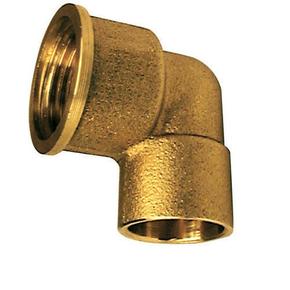 Coude laiton fer/cuivre 90GCU femelle diam.15x21mm à souder diam.12mm - Gedimat.fr