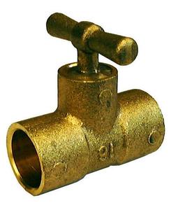 Té laiton brut purgeur droit à souder pour tube cuivre diam.14mm sous coque de 1 pièce - Gedimat.fr
