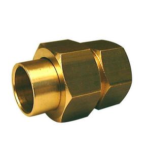 Raccord fer-cuivre 3 pièces droit laiton brut femelle à visser diam.15x21mm à souder diam.14mm 1 pièce - Gedimat.fr