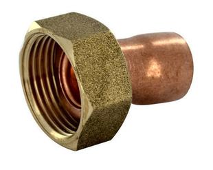 Raccord 2 pièces droit laiton/cuivre à écrou prisonnier diam.12x17mm pour tube diam.14mm 1 pièce - Gedimat.fr