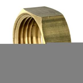 Ecrou hexagonal 6 pans laiton pour collet battu diam.15x21mm pour tube diam.16mm sous coque 2 pièces - Gedimat.fr