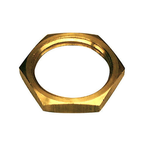Ecrou laiton brut plat hexagonal diam.12x17mm avec lien 1 pièce - Gedimat.fr