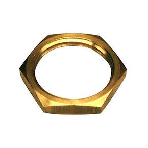 Ecrou laiton brut plat hexagonal diam.15x21mm sur carte de 2 pièces - Gedimat.fr
