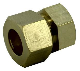Raccord union laiton brut bicône à visser femelle diam.12x17mm pour tube cuivre diam.12mm sous coque 1 pièce - Gedimat.fr