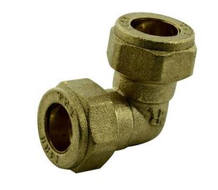 Coude laiton brut équerre à raccord bicône diam.12x17mm pour tube cuivre diam.10mm sous coque 1 pièce - Gedimat.fr