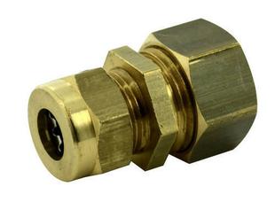 Raccord union laiton brut réduit à joint mixte gripp pour tube cuivre diam.14mm/diam.10mm sous coque 1 pièce - Gedimat.fr