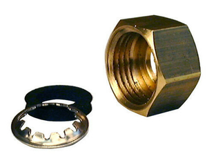 Ecrou joint et rondelle pour raccord mixte gripp diam.15x21mm pour tube cuivre diam.12mm 1 pièce en vrac avec lien - Gedimat.fr