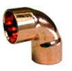 Coude cuivre à souder femelle-femelle petit rayon 90CU angle 90° diam.22mm sous coque de 2 pièces - Gedimat.fr