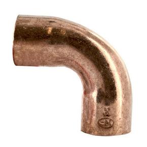 Courbe cuivre à souder femelle-femelle grand rayon 5002A angle 90° diam.28mm avec lien 1 pièce - Gedimat.fr