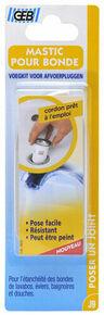 Mastic pour bonde à base de caoutchouc butyl cordon diam.8mm long.43cm blanc - Gedimat.fr