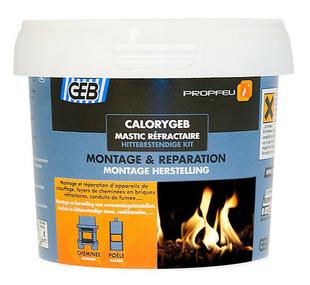 Mastic réfractaire prêt à l'emploi pour appareil de chauffage et foyer de cheminée pot de 600g noir - Gedimat.fr