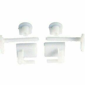 Jeu de 2 fixations plastique pour abattant WC en plastique - Gedimat.fr