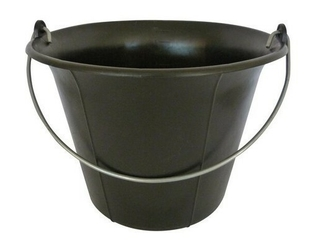 Seau de maçon plastique noir fond plat  11l - Gedimat.fr