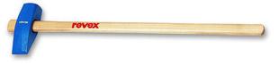 Masse à taillant douille conique 4kg acier chromé manche bois frêne verni 90cm - Gedimat.fr