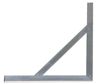 Equerre en aluminium avec écharpe larg.60cm long.100cm - Gedimat.fr