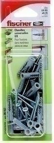 Cheville universelle nylon UX-RS avec collerette diam.6mm long.35mm 20 pièces avec vis - Gedimat.fr