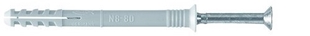 Chevilles à frapper nylon à clou FISCHER N-S diam.8mm long.100mm en boîte de 50 pièces - Gedimat.fr
