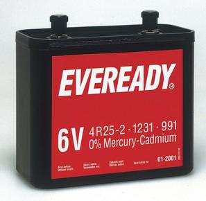 Pile saline 825 6 volts EVEREADY type 4R25-2 vendu à l'unité - Gedimat.fr