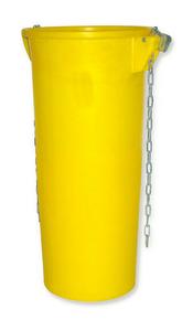 Goulotte d'évacuation de gravats Haut.108cm diam.52/39cm Jaune MOB MONDELIN - Gedimat.fr