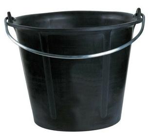 Seau Prochok noir anse 6,3mm - 12l - Gedimat.fr
