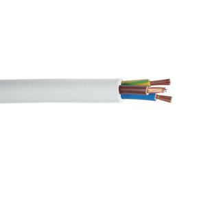 Câble électrique souple H05VVF section 3G6mm² coloris blanc vendu à la coupe au ml - Gedimat.fr