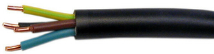 Câble électrique rigide R2V 4G2,5mm² coloris noir vendu à la coupe au ml - Gedimat.fr