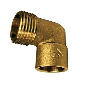 Coude laiton fer/cuivre 92GCU mâle diam.15x21mm à souder diam.14mm 1 pièce sous coque - Gedimat.fr