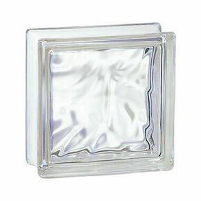 Brique de verre 198 ép.8cm dim.19x19cm nuagée - Gedimat.fr
