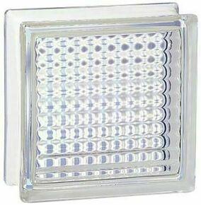 Brique de verre 198 ép.8cm dim.19x19cm quadrillee - Gedimat.fr