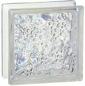 Brique de verre 198 ép.8cm dim.19x19cm bullée - Gedimat.fr