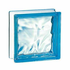 Brique de verre 198 ép.8cm dim.19x19cm nuagée bleu azur - Gedimat.fr