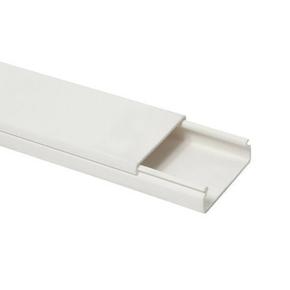 Moulure de distribution électrique long.2m coloris blanc larg.30mm ép.10mm vendue à la longueur - Gedimat.fr