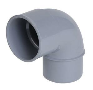 Coude PVC d'évacuation d'eau usée NICOLL mâle-femelle diam.40mm angle 87°30 coloris gris - Gedimat.fr