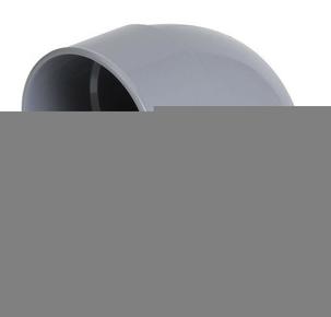 Coude PVC d'évacuation d'eau usée NICOLL mâle-femelle diam.160mm angle 87°30 coloris gris - Gedimat.fr