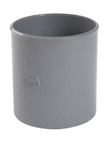 Manchon PVC NICOLL femelle-femelle à butée intérieure diam.100mm coloris gris - Gedimat.fr