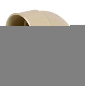 Coude PVC pour tube de descente de gouttière NICOLL diam.80mm angle 87°30 femelle femelle coloris sable - Gedimat.fr