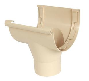 Naissance centrale à coller pour gouttière PVC de 33 NICOLL NAC33S coloris sable - Gedimat.fr