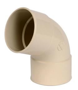 Coude PVC pour tube de descente de gouttière NICOLL diam.100mm angle 67°30 femelle femelle coloris sable - Gedimat.fr