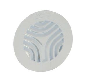 Grille d'aération NICOLL ronde à fermeture avec moustiquaire coloris blanc pour tuyau PVC 1FATM125 diam.125mm - Gedimat.fr