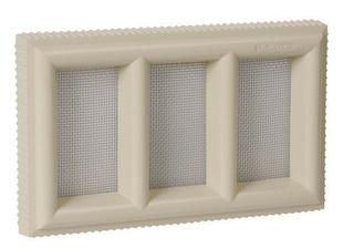 Claustra PVC NICOLL pour maçonnerie avec moustiquaire acier inoxydable haut.130mm larg.215mm coloris sable - Gedimat.fr