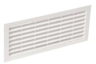 Grille d'aération classique d'intérieur NICOLL rectangulaire avec moustiquaire coloris blanc 1B111 haut.108mm larg.254mm - Gedimat.fr