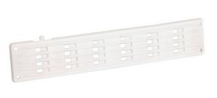 Grille d'aération classique d'intérieur NICOLL plate rectangulaire à fermeture sans moustiquaire 40x200mm coloris blanc - Gedimat.fr