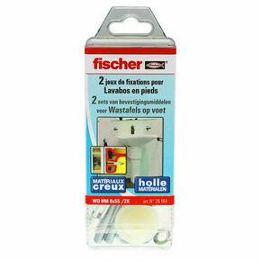 Fixation WD HM mur creux pour lave main et lavabo sur pied 2 pièces - Gedimat.fr