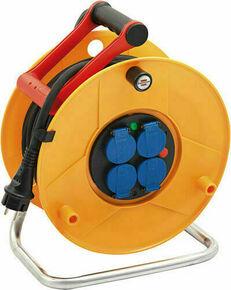Enrouleur prolongateur STANDARD PRO avec câble 25m HO7 RN-F 3G1,5 et disjoncteur thermique - Gedimat.fr
