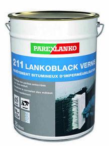 Peinture noire bitumineuse en phase solvant 211 LANKOBLACK VERNIS pot de 25L - Gedimat.fr