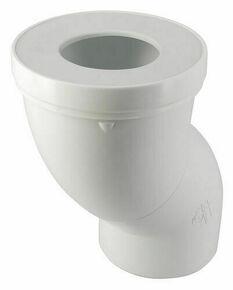 Pipe de sortie de cuvette WC NICOLL PVC orientable avec entrée à joint diam.85/107mm sortie femelle diam.100mm long.193mm coloris blanc - Gedimat.fr