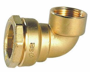 Raccord coudé laiton femelle diam.25mm 20X27 pour tuyau polyéthylène - Gedimat.fr